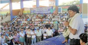El partido oficialista comenzará a hacer campaña por Morales. (Twitter)
