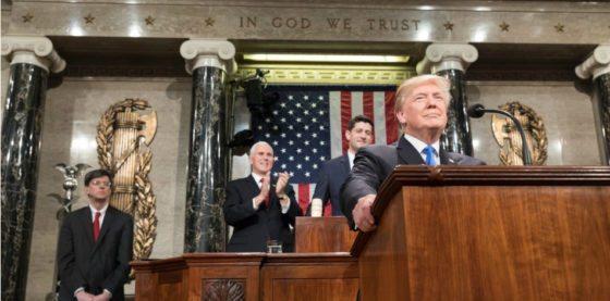 """Trump se jacta de sanciones a """"dictadura comunista y socialista"""" de Venezuela en discurso ante el Congreso"""