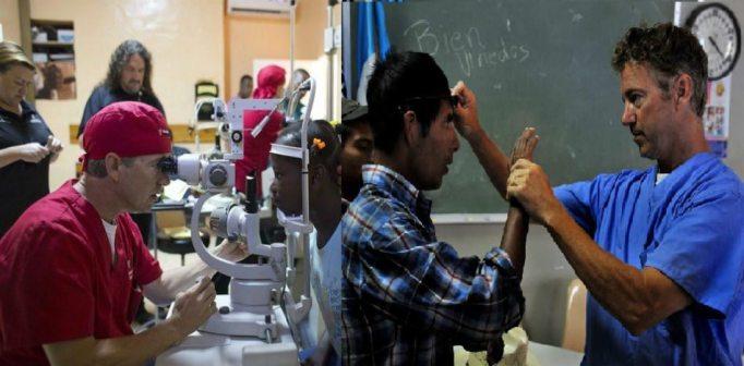 Rand Paul curando en Haití y a inmigrantes sin cobertura médica en EE.UU. (FotoMontaje)