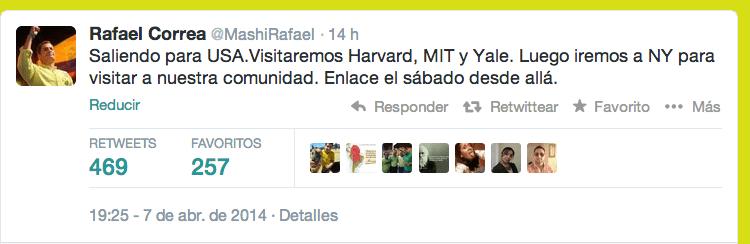 Twitter de Rafael Correa