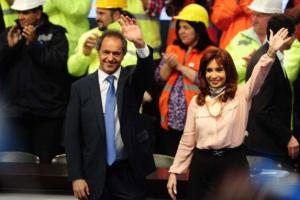 Scioli acompaño a la Presidenta Kirchner en varias cadenas nacionales. (BonelliOk)