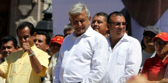 Candidato presidencial de la izquierda en México recibe a 2018 confiado de su victoria