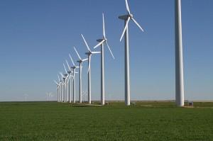 Parque eólico en Texas. (Wikipedia).