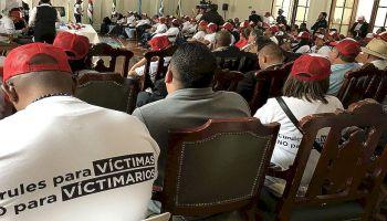 También exigieron penas privativas de la libertad para el Secretariado de las FARC. (Twitter)