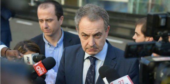"""Zapatero juega su última ficha e implora una firma del injusto acuerdo a la """"oposición"""" venezolana"""