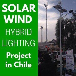 chile evidenza - Proyecto de Iluminación Híbrida Eólica / Solar en Chile