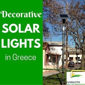 greece evidenza - Luminarias solares decorativas instaladas en Grecia