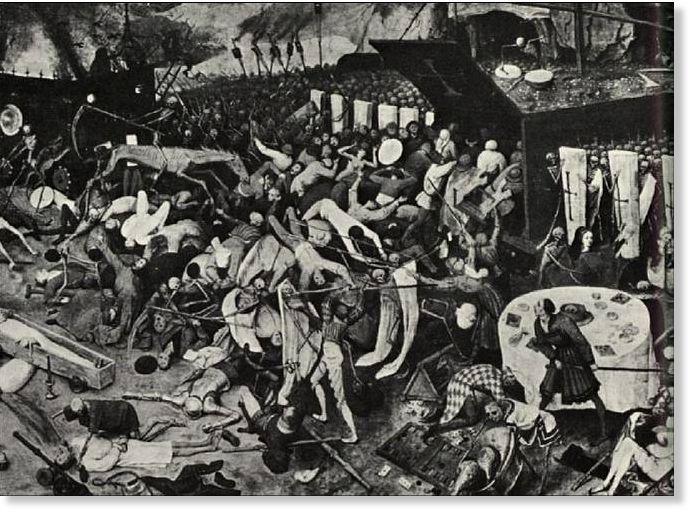 Descripción artística de la peste.