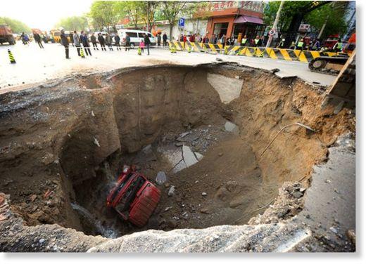 Cráter en Pekín