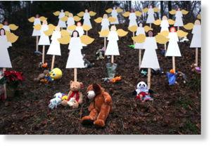 ositos de peluche en memoria a los niños de Sandy Hook