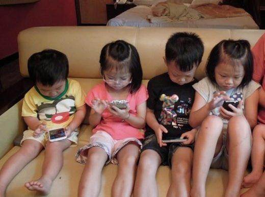 Children addicted to smartphone
