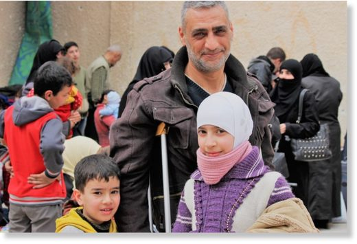 syrian family happy