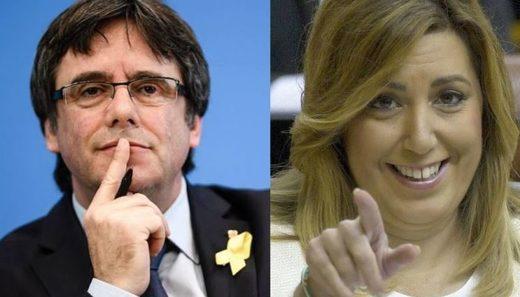 Carles Puigdemont y Susana Díaz