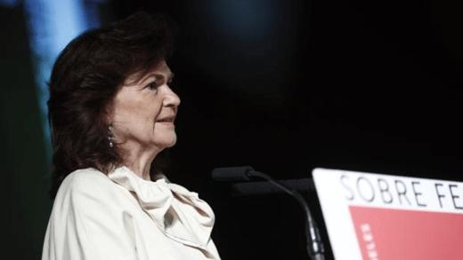 La ministra de Igualdad, Carmen Calvo