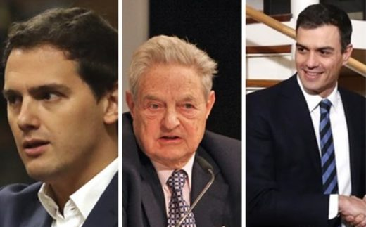 César Vidal destapa una reunión secreta de George Soros con Albert Rivera para forzarle a pactar con Pedro Sánchez