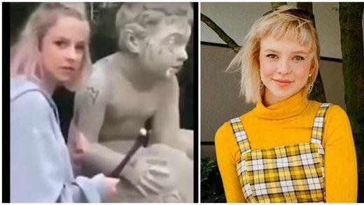 Una 'influencer' polaca daña una estatua de 200 años para ganar seguidores en Instagram