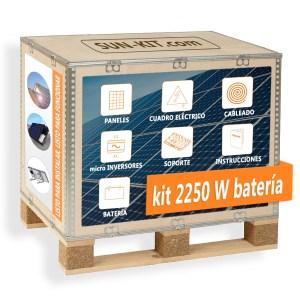 6 paneles y batería para suelo