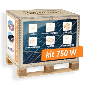2 paneles sin batería para suelo micro-inversores