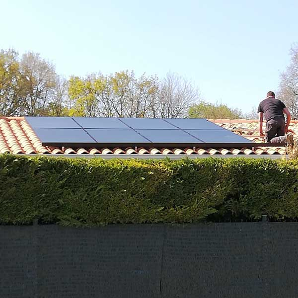 kit solar 8 paneles sobre teja