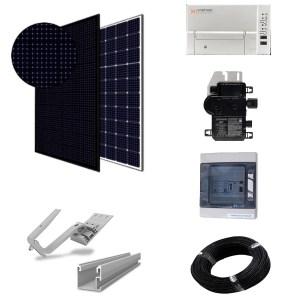 Paneles sin batería - kit micro-inversores para tejado