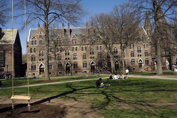 Universidad de Yale en New Haven, Connecticut. New Haven ofrece muchas ofertas educativas y culturales que atraen a los visitantes de la ciudad. (Foto por Christopher Capozziello/Getty Images)