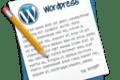 Escritura, iconos, Wordpress, post