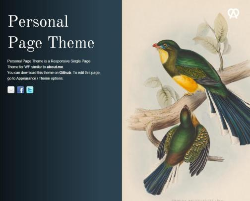 Personal Page theme