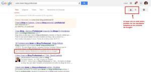 resultados búsquedas según google plus