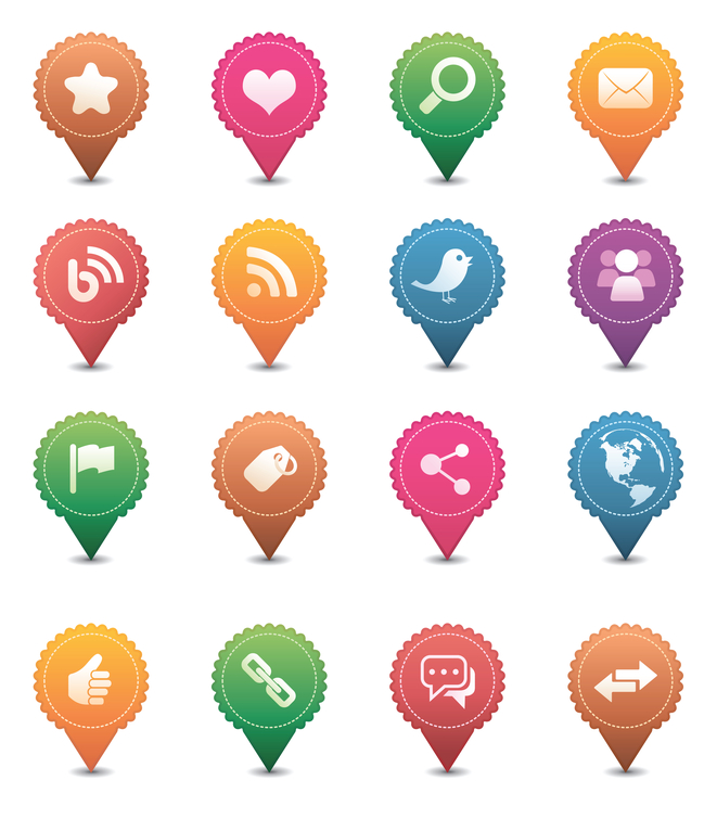 iconos sociales personalizados de DepositPhotos
