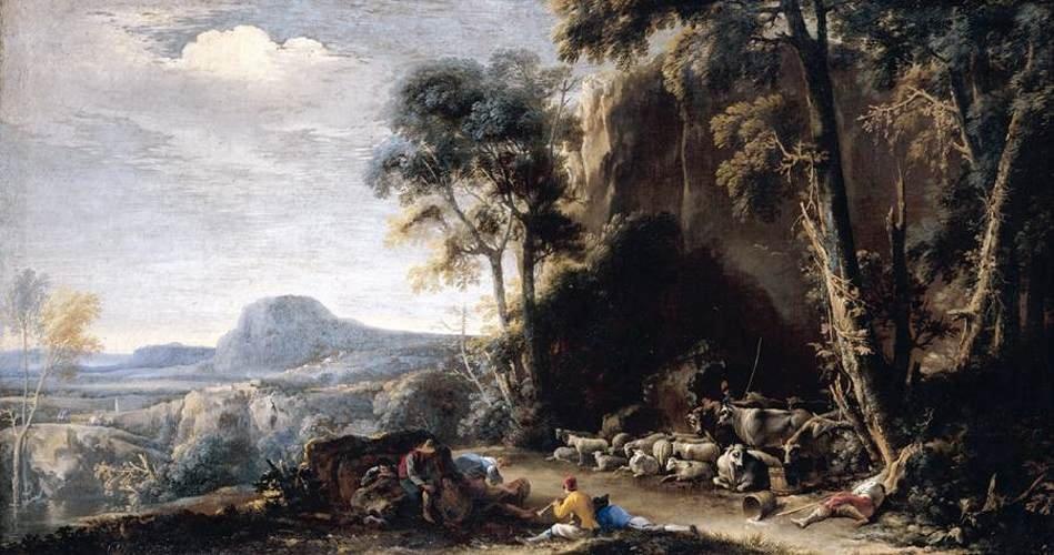 Paisaje boscoso de Salvator Rosa 16151673 Italy