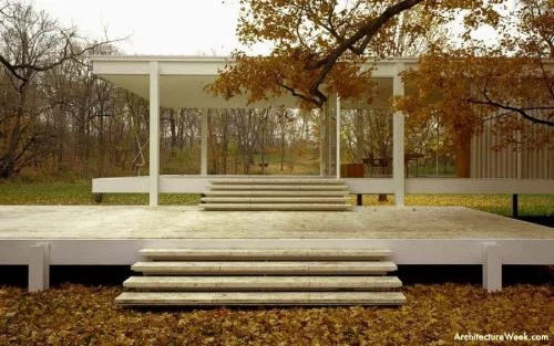 Casa Farnsworth  Ficha Fotos y Planos  WikiArquitectura