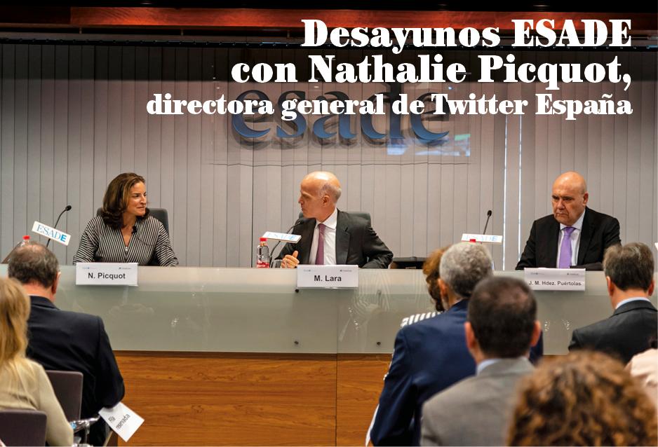 Desayunos ESADE con Nathalie Picquot, directora general de Twitter España