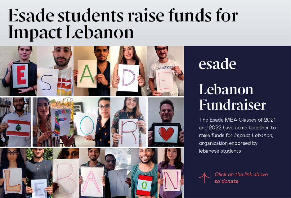 Esade students raise funds for Lebanon