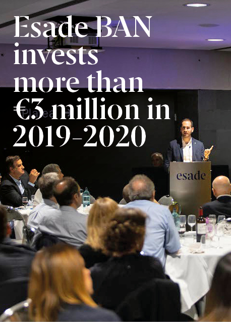 Esade BAN invests more than €3 million in 22 new projects during the 2019-20 academic year