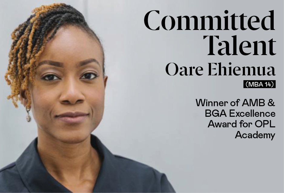 Oare Ehiemua (MBA '14), Winner of AMBA & BGA Excellence Award for OPL Academy