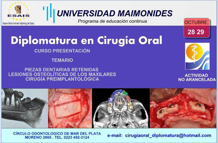 diplomatura en cirugia oral oct 2016
