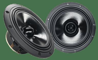 2-way 6.5 inch (16,5 cm) Compo Set 25 mm Silk dome Tweeter Max. 150 Watts Minimum Amplifier Power: 50 Watts Frequency Response: 50 Hz – 30 kHz