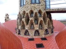 Palau Güell chimney, detail