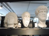 The Museum has an excellent collection of Roman sculptures of heads. Here's Socrates!