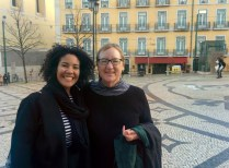 With Paula Rodrigues, Lisbon, Portugal