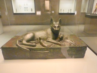 An Egyptian cat? I really question this one, but it's cute anyway.