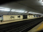 In the subway station in Lisbon