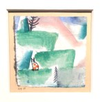 Paul Klee, Cats & landscape, Batliner Collection, Albertina.