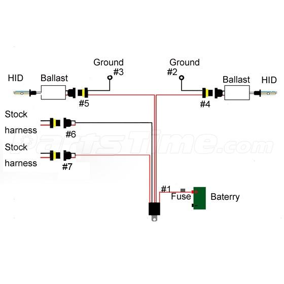 led turn signal flasher wiring diagram of the four quadrants 1x for headlight fog lights high low beam xenon hid conversion relay kit | ebay