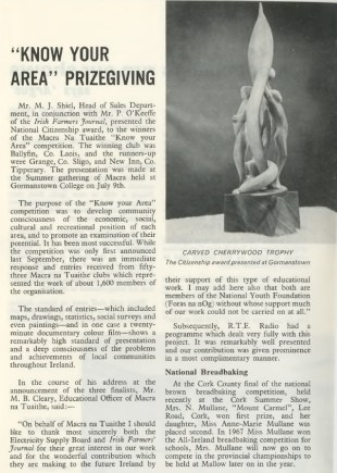 Know your area - ESB Internal Publication Prospect August 1969