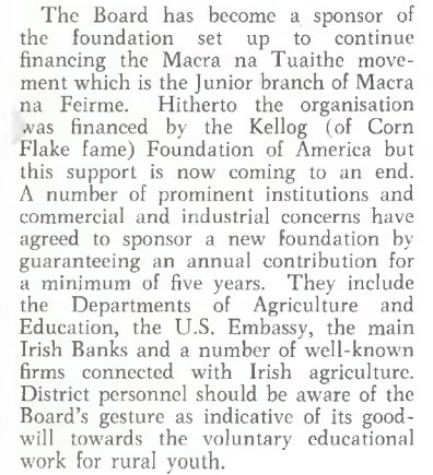 Macra na Tuaithe Sponsorship ESB Internal Publication, Prospect June 1962
