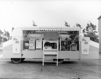 A mobile rural demonstration for both the home and the farm, 19 June 1956