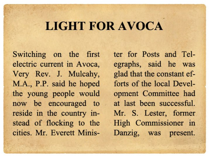 AVOCA-NEWSPAPER