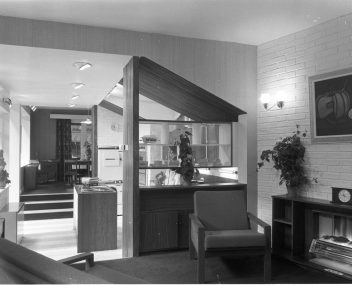 RDS home exhibit, interior, 1960s