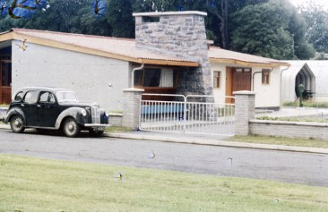 RDS model home, exterior,1960s